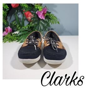 Clarks Step Glow Lite boat shoe women's size 7.5
